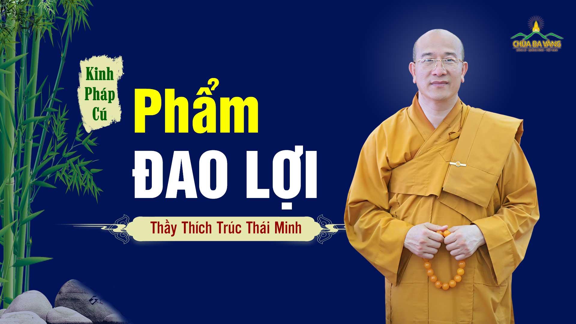 Phẩm Đao Lợi, kinh Pháp Cú - Thầy Thích Trúc Thái Minh giảng giải