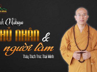 Phẩm chủ nhân và người làm chùa Ba Vàng.