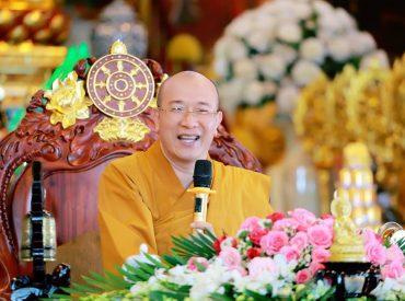 Thầy Thích Trúc Thái Minh trụ trì chùa Ba Vàng.