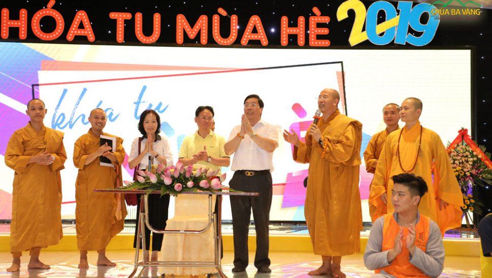 Đại Sứ Nguyễn Thanh Sơn và Đại Đức Thích Trúc Thái Minh