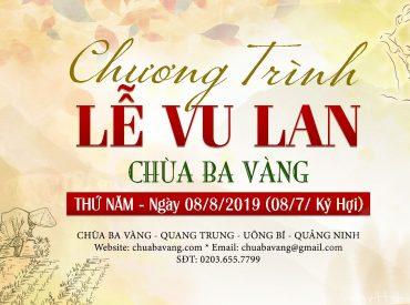thông báo đại lễ vu lan chùa ba vàng