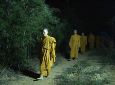 Chư Tăng chùa Ba Vàng tu tập trong rừng.