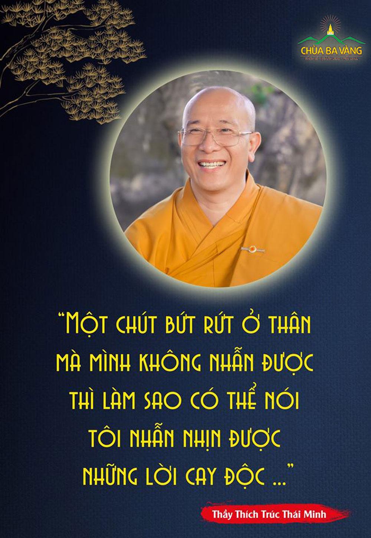 Lời dạy của Thầy Thích Trúc Thái Minh