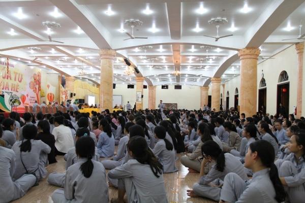 Buổi giao lưu Ban tổ chức khóa tu và các khóa sinh