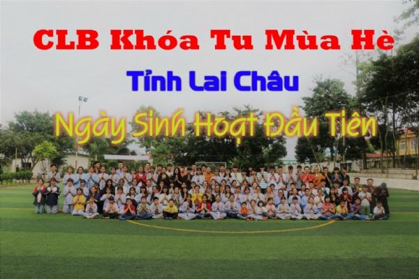 Ngày sinh hoạt đầu tiên của CLB Khóa Tu Mùa Hè chùa Ba Vàng.