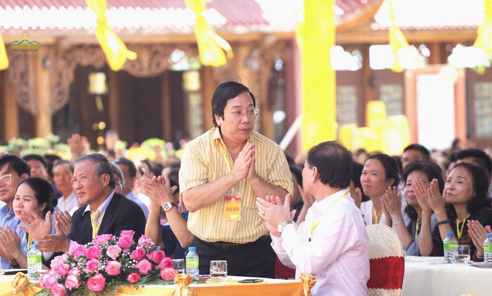 Đại Sứ Nguyễn Thanh Sơn – nguyên Thứ Trưởng Bộ Ngoại giao, nguyên Chủ tịch Ủy ban Quốc Gia UNESCO Việt Nam tham dự buổi lễ