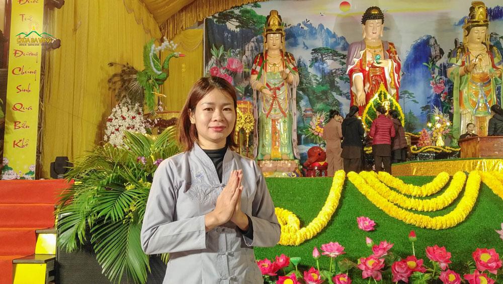 Phật tử Trịnh Thị Dung - hiện đang sinh hoạt và tu học tại CLB Trúc Hải - Hải Phòng