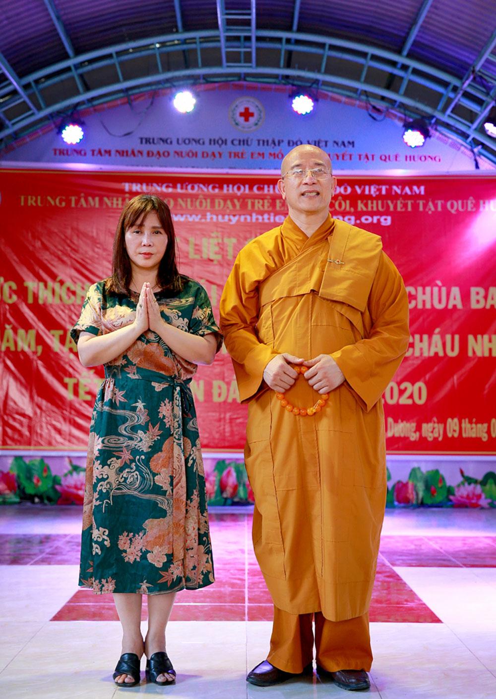 Bà Huỳnh Tiểu Hương - người sáng lập ra Trung tâm nhân đạo Quê Hương
