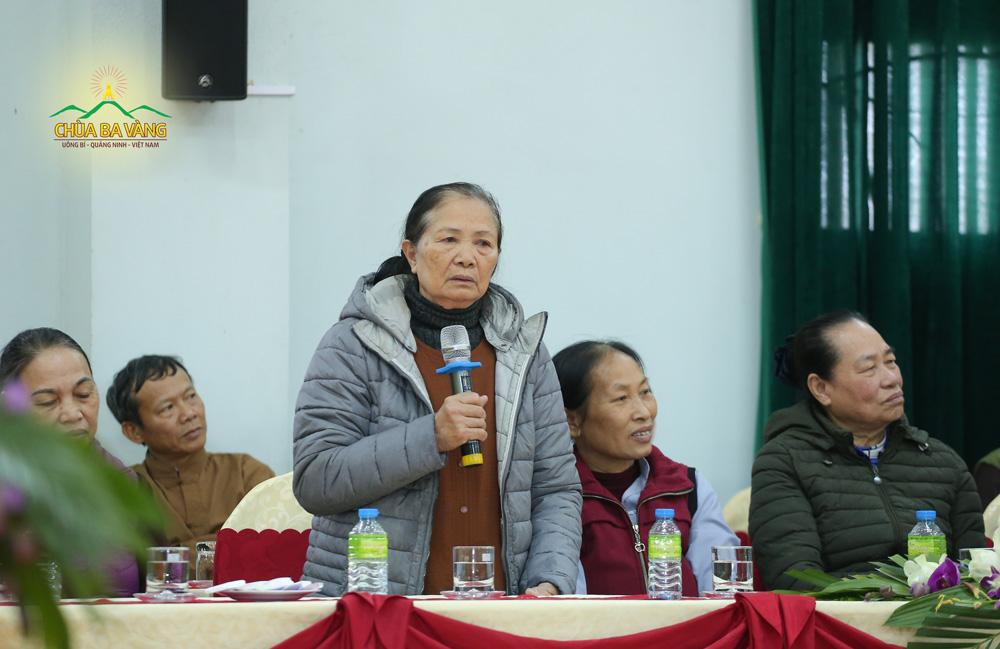 Bà Nguyễn Thị Vượng - người theo Sư Phụ từ những ngày trong Thiền Viện Trúc Lâm Yên Tử