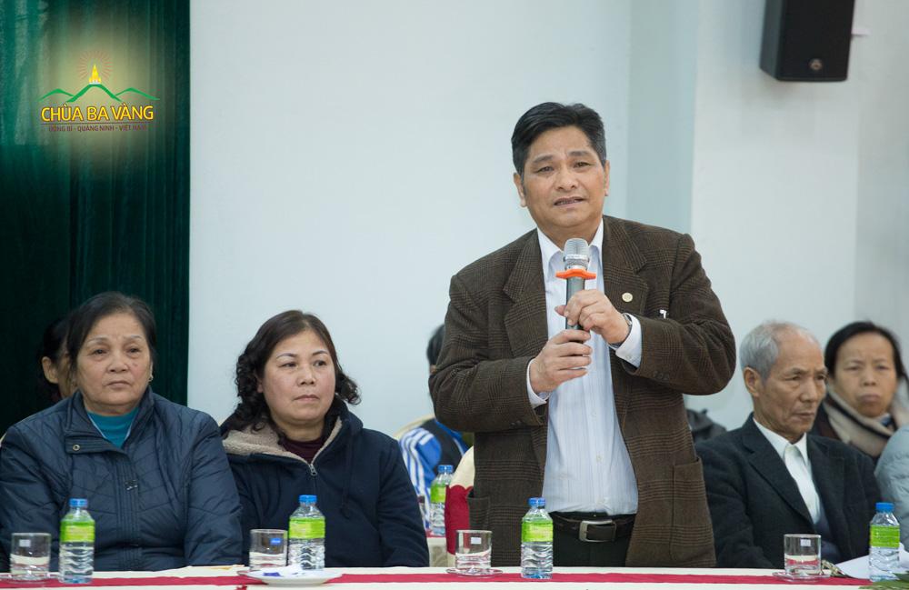 Chú Nguyễn Hữu Hạ - nguyên Bí thư phường Thanh Sơn là người có công đưa Sư Phụ về thăm chùa Ba Vàng