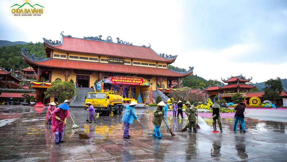 Chùa Ba Vàng hoàn tất mọi khâu chuẩn bị , sẵn sàng phục vụ chu đáo nhân dân hành hương lễ Phật dịp xuân Canh Tý