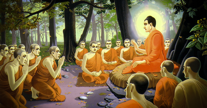 Đức Phật thuyết giảng cho Tăng chúng về nguyên nhân sâu xa dẫn đến việc dòng họ Thích Ca bị diệt vong