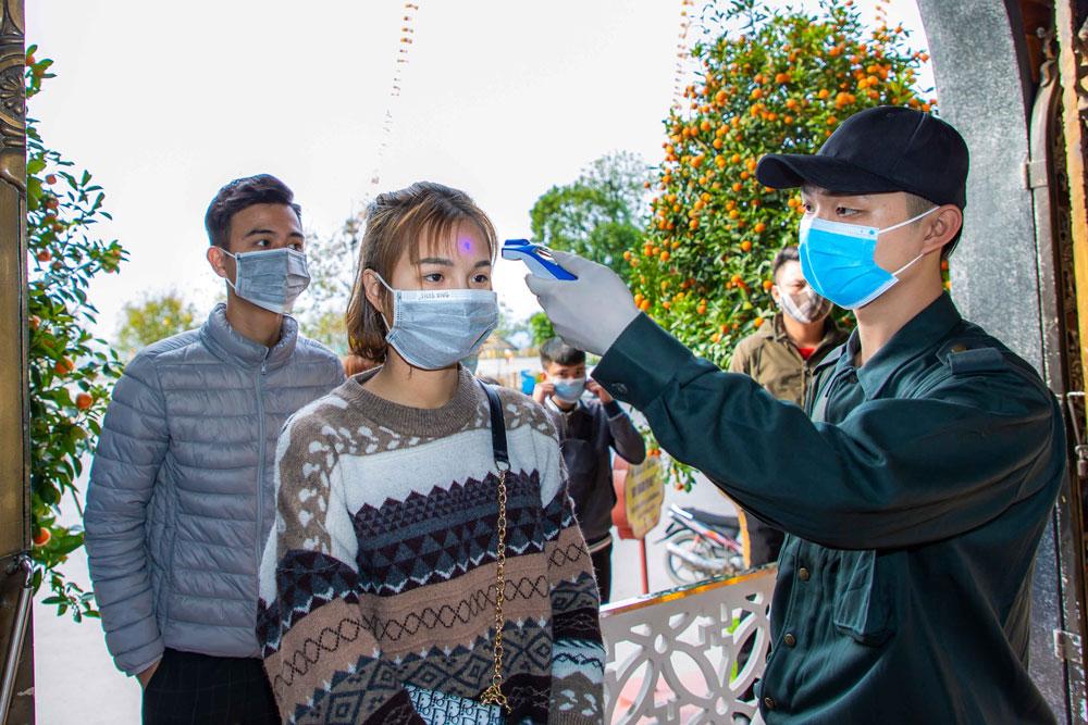 Công tác kiểm tra phòng chống dịch bệnh luôn được nhà chùa sát sao thực hiện