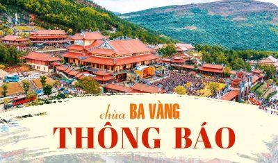 Thông báo chùa Ba Vàng