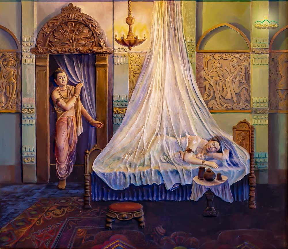 Lời tiên tri về cuộc đời Đức Phật đã thành sự thật, Thái tử nhìn vợ và con trai lần cuối trước khi ra đi tìm cầu chân lý