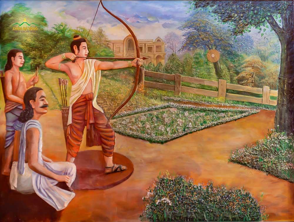 Cuộc đời Đức Phật (Thái tử) trước khi xuất gia được sống trong nhung lụa và được dạy dỗ rất chu đáo, văn võ song toàn