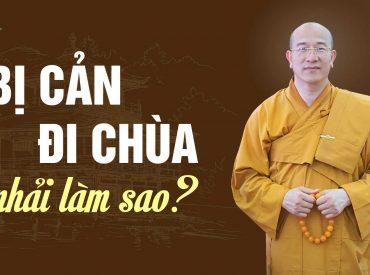 Phật tử nên ứng xử ra sao khi bị người thân cản đi chùa?