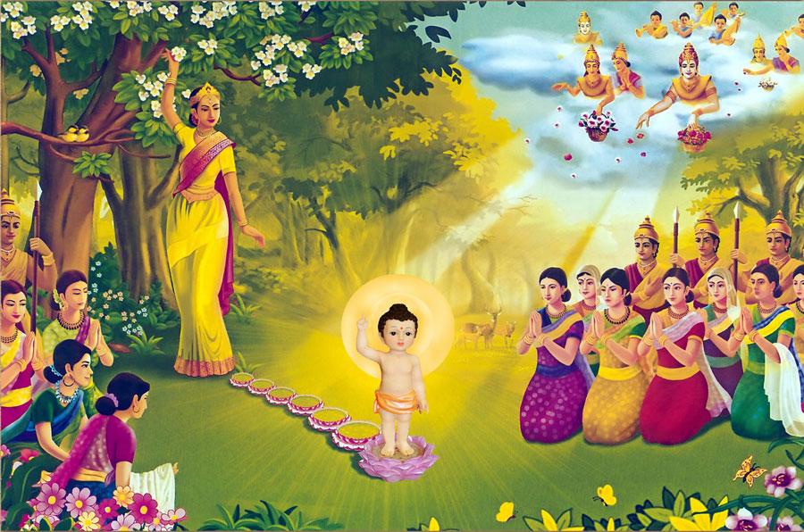 Đức Phật đản sinh là niềm vui, niềm hân hoan, hạnh phúc của tất cả Trời, người và muôn loài (Nguồn ảnh: Internet)