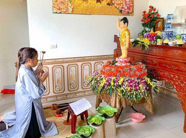 Mặc dù Phật tử học Pháp tại nhà nhưng tâm luôn hướng về ngôi già lam Ba Vàng, tinh tấn tu hành để không phụ công ơn của Sư Phụ