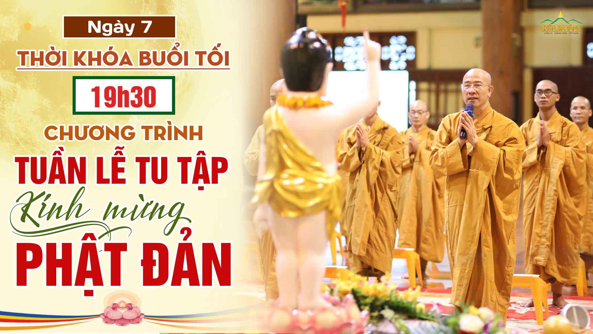 [Thời khóa tối – ngày 7] Chương trình Tuần lễ tu tập kính mừng Khánh đản