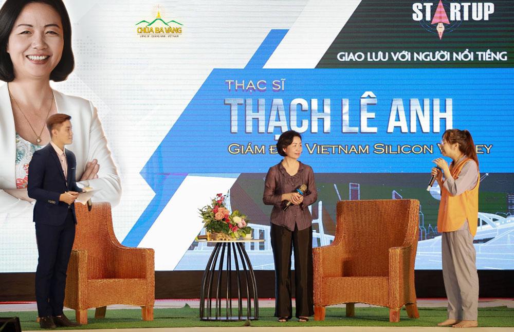Thạc sĩ Thạch Lê Anh - nhà sáng lập Vietnam Silicon Valley giao lưu với các bạn trẻ tại Khóa tu mùa hè chùa Ba Vàng 2018