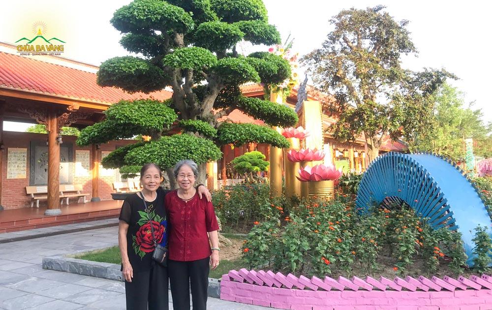 Phật tử Nguyễn Thị Huê hiện đang sinh sống tại quận Tân Bình, Tp Hồ Chí Minh
