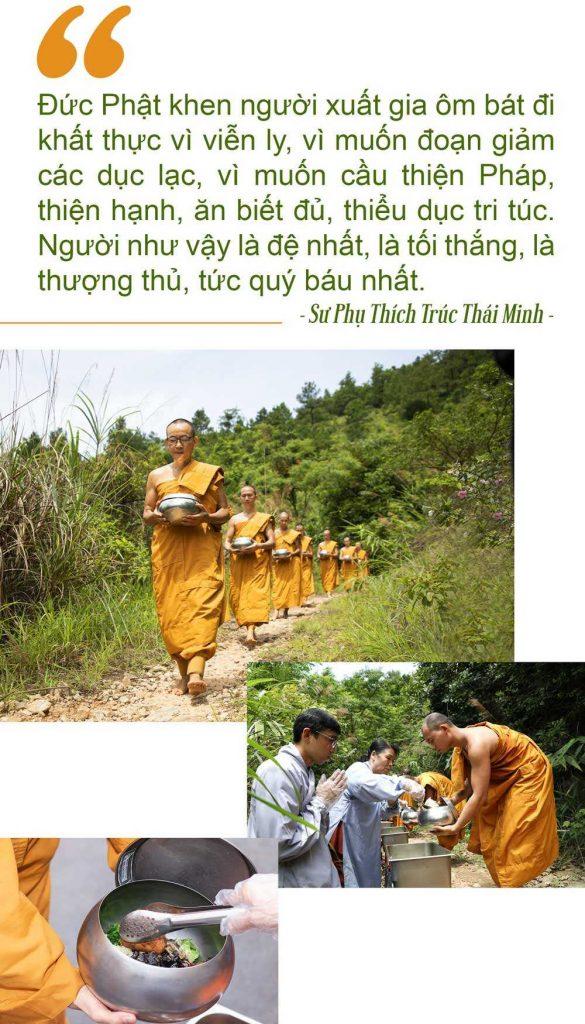 Lời cảm niệm tri ân của các Phật tử sau khi được đặt bát cúng dường