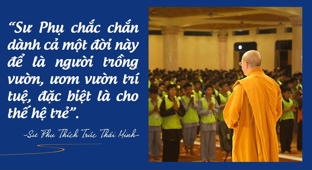 Tâm nguyện của Sư Phụ Thích Trúc Thái Minh đối với thế hệ trẻ