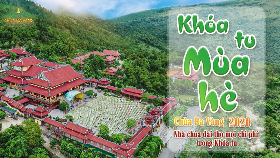 Thông báo Khóa tu mùa hè 2020 chùa Ba Vàng