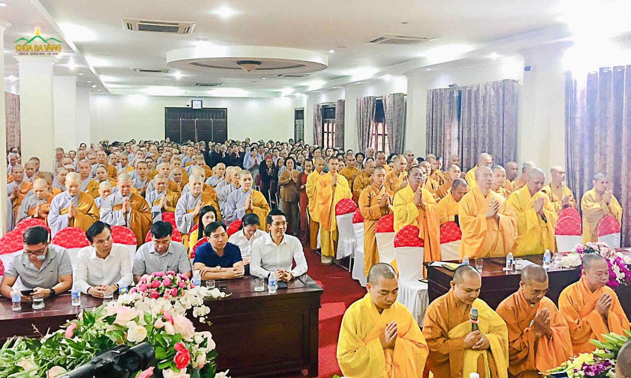Toàn cảnh buổi lễ khai pháp khóa an cư kết hạ PL.2564 – DL.2020 tại chùa Trình - Yên Tử