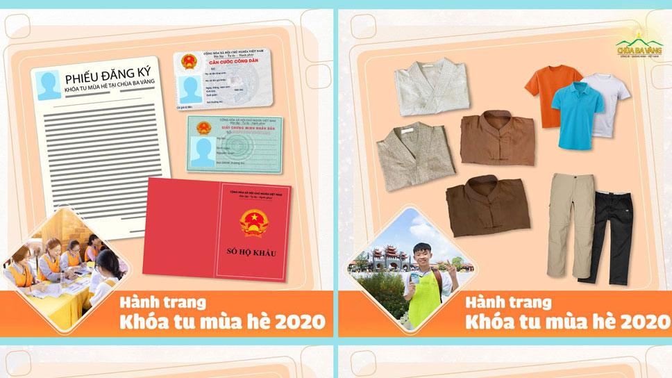 Hướng dẫn đăng ký Khóa tu mùa hè chùa Ba Vàng 2020