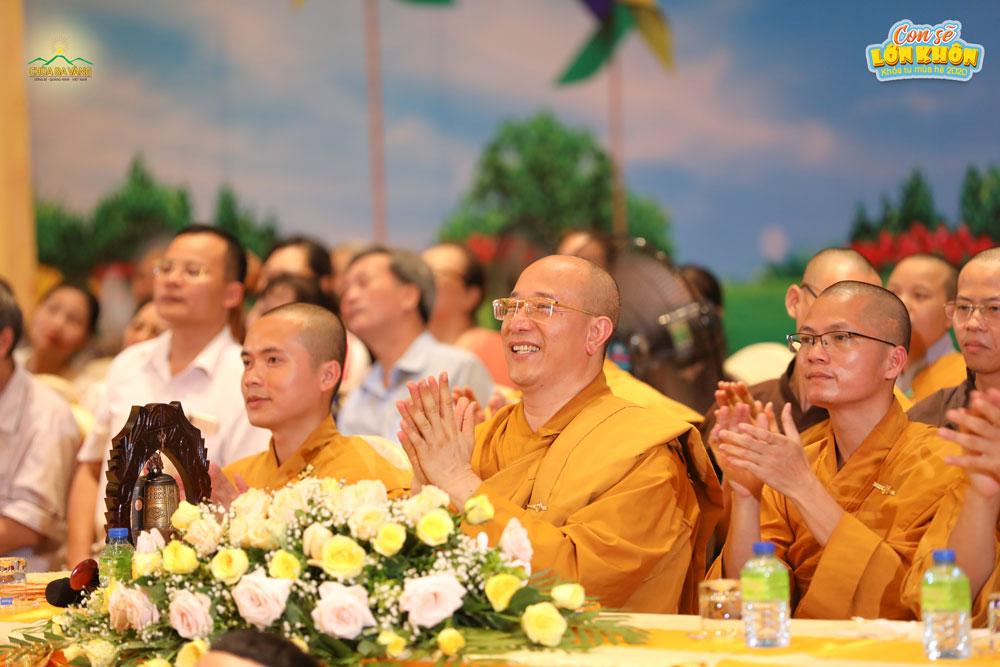Sư Phụ Thích Trúc Thái Minh quang lâm chứng dự lễ khai mạc Khóa tu mùa hè chùa Ba Vàng lần I - 2020