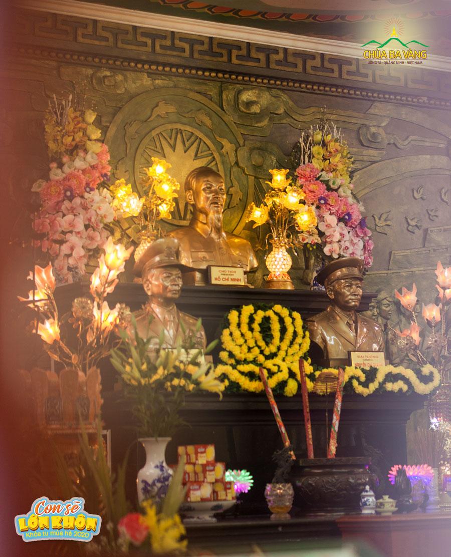 Đền thờ anh hùng liệt sĩ – Nơi thờ tự anh linh Chủ tịch Hồ Chí Minh, hai vị Đại tướng Võ Nguyên Giáp và Đại tướng Nguyễn Chí Thanh