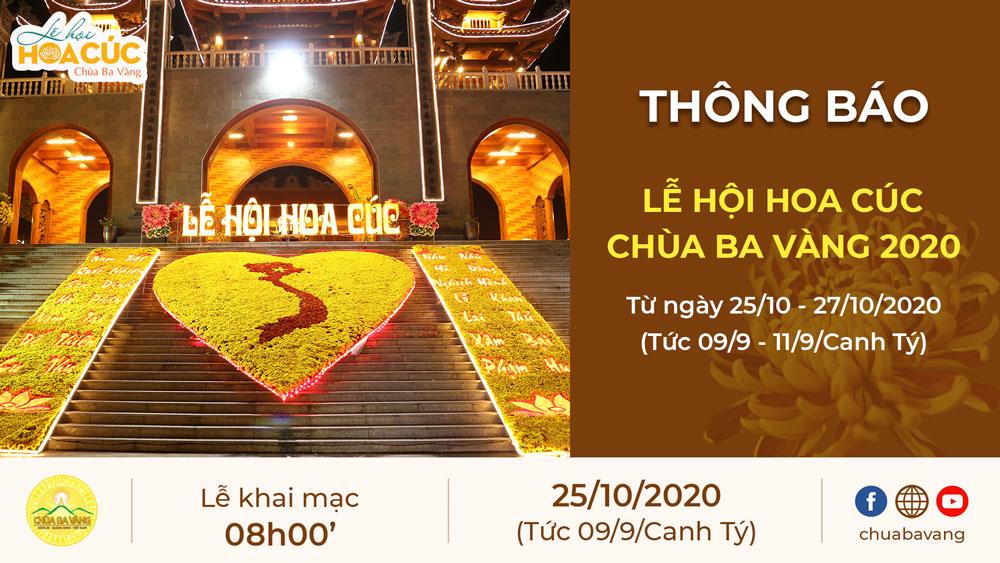 Thông báo lễ hội hoa cúc chùa Ba Vàng