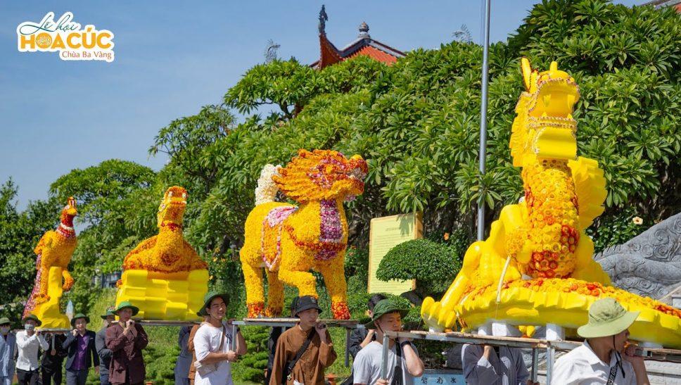 Công tác chuẩn bị cuối cùng chào đón lễ Hội Hoa Cúc Chùa Ba Vàng 2020
