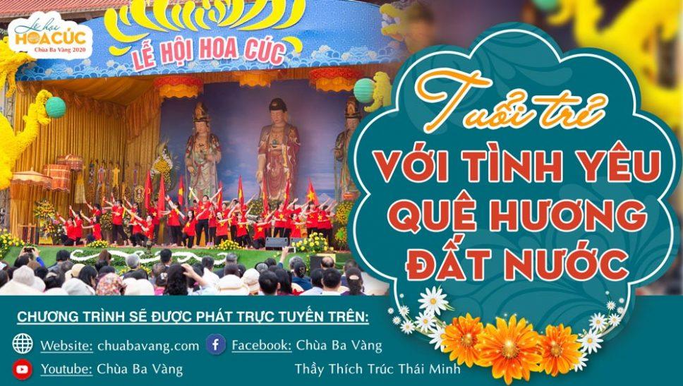 """[TRỰC TIẾP] Đêm văn nghệ """"Tuổi trẻ với tình yêu quê hương đất nước"""" - lễ hội Hoa Cúc năm 2020"""