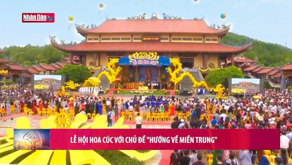 Truyền hình Nhân Dân đưa tin về Lễ hội Hoa Cúc Chùa Ba Vàng 2020 - Hướng về miền Trung thân yêu