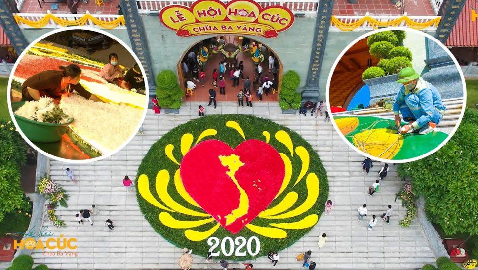 Quá trình hoàn thành Mô Hình Đặc Biệt ở cổng Tam Quan tại lễ hội Hoa Cúc 2020 - Hướng về miền Trung